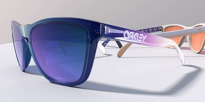 Close Up of Clear Acrylic Frogskin Glasses