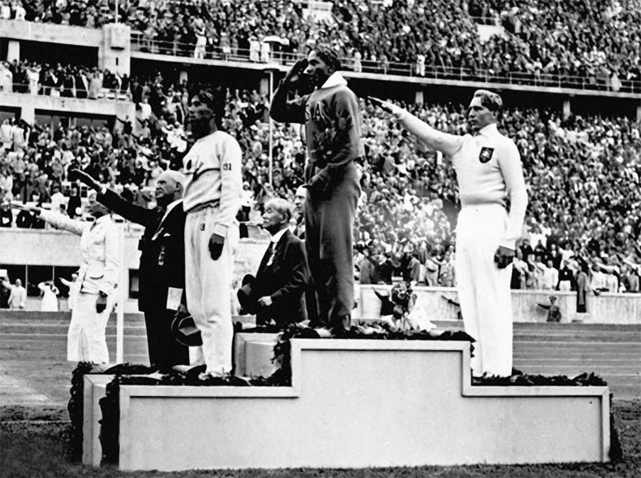 Jesse Owens receiving the gold medal
