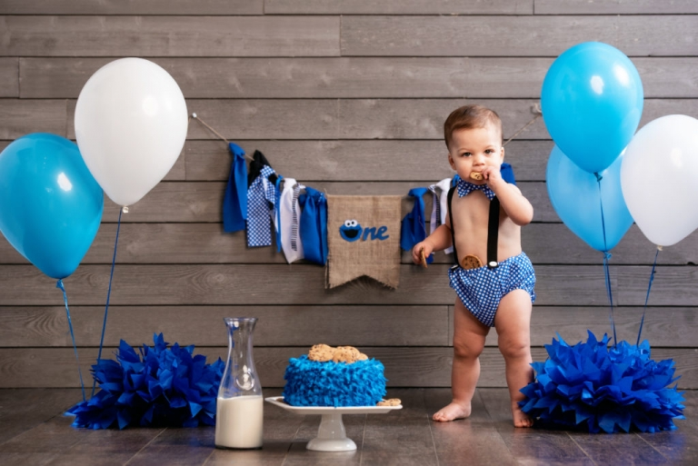 Massimo Turns 1 Cookie Monster Themed Session Jesse Rinka Photography Weddings Portraits Events