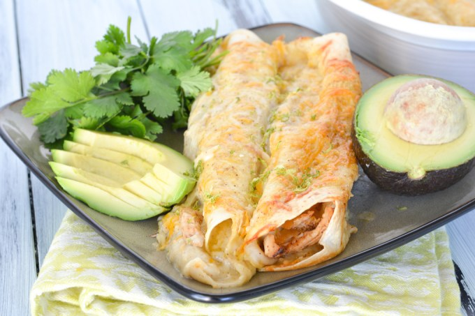 These Honey Lime Chicken Enchiladas are sweet and tangy, with lots of cheese and a delicious, creamy green chile sauce. A unique twist on the classic Mexican dish!