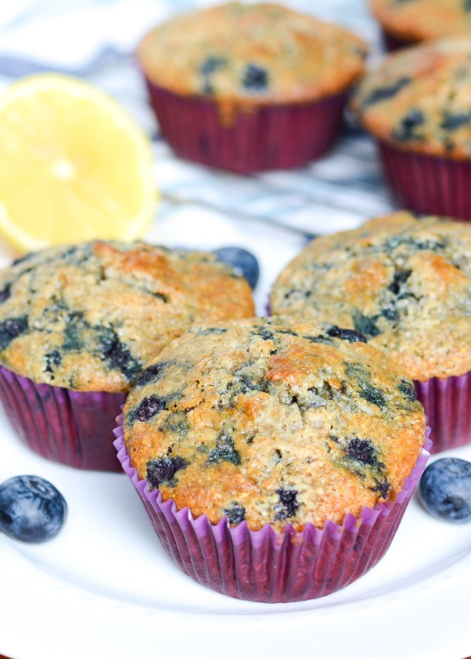 These Blueberry Oatmeal Muffins are packed with oats to keep you full all morning, but still fluffy and sweet just like a muffin should be!