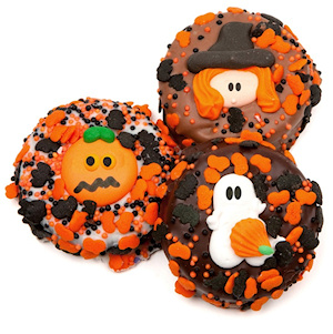 Chocolate Dipped Halloween Oreos