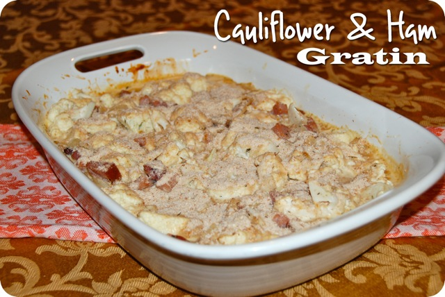 Cauliflower and Ham Gratin