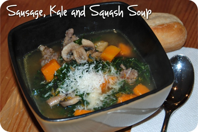 Sausage, Kale and Squash Soup
