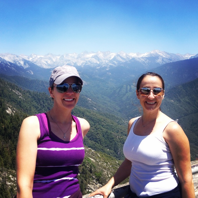 The view from Moro Rock, Sequoia National Park, CA