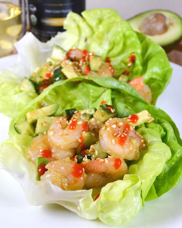 Sesame Shrimp Lettuce Wraps