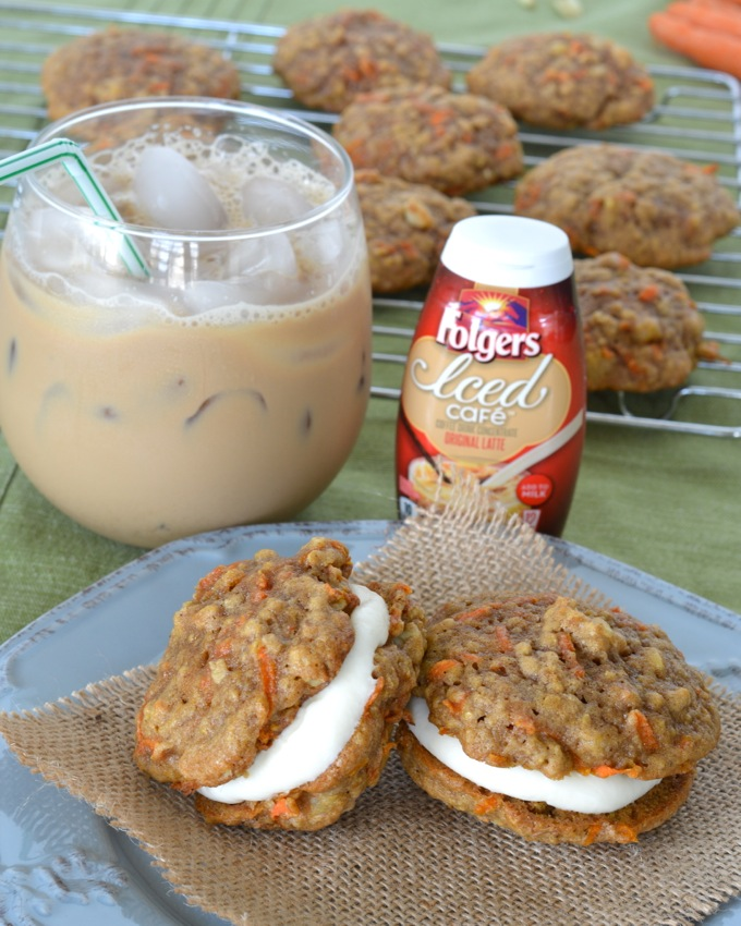 Carrot Cake Whoopie Pies and Folgers Iced Cafe #MyIcedCafe