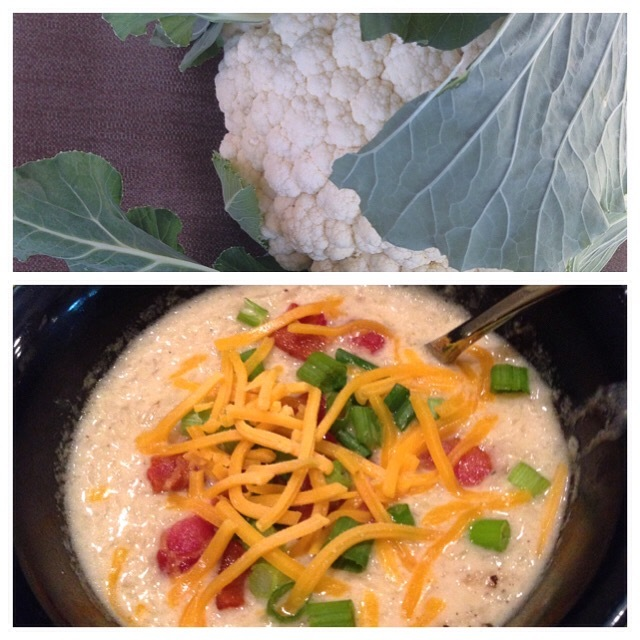 Cheddar Bacon Cauliflower Chowder