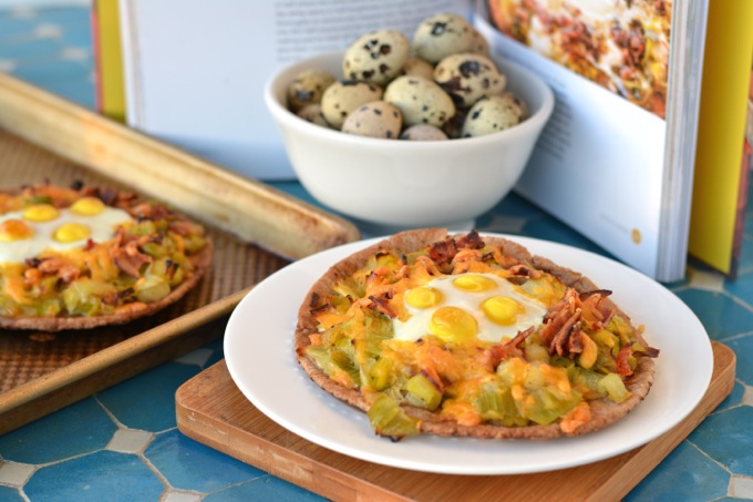 Leek and Bacon Breakfast Pizza