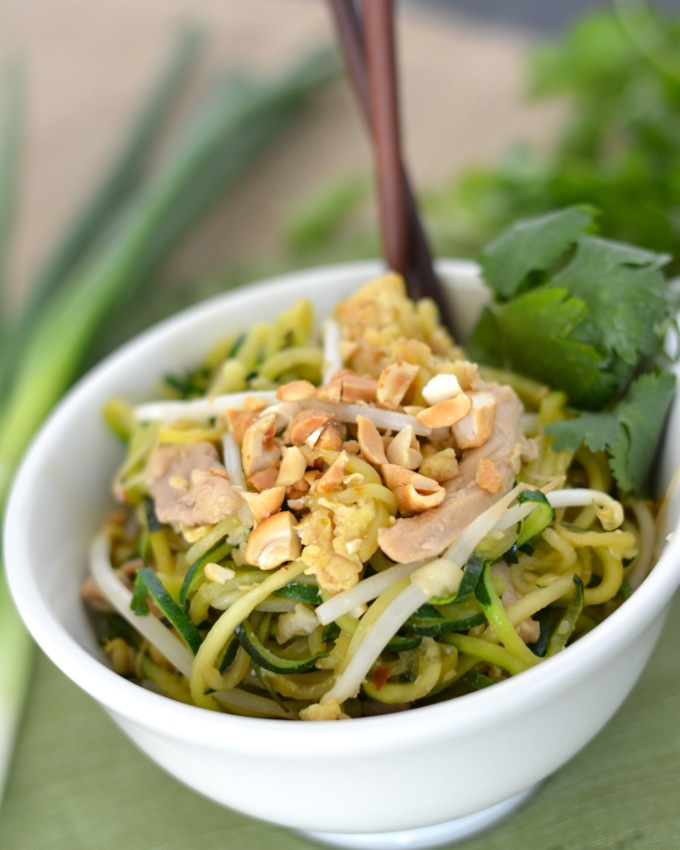 Pad Thai Zoodles with Zucchini Noodles