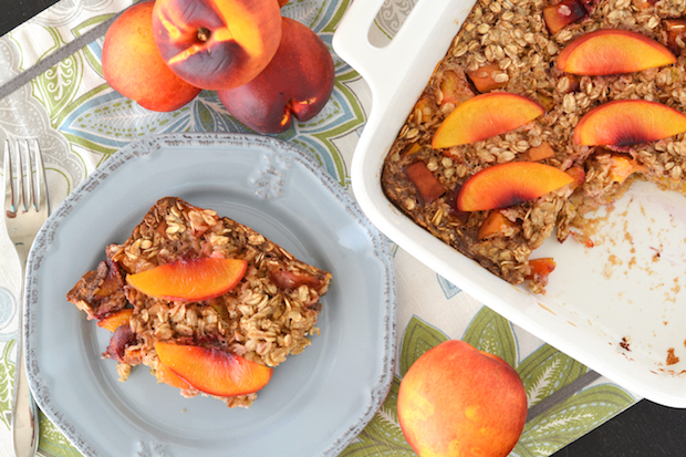 Peaches 'n Cream Baked Oatmeal