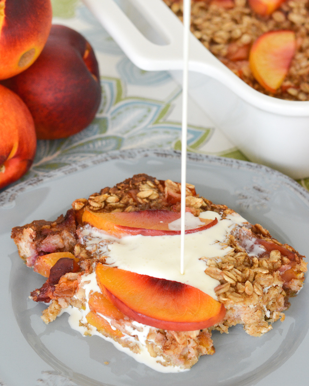 Peaches 'n Cream Baked Oatmeal