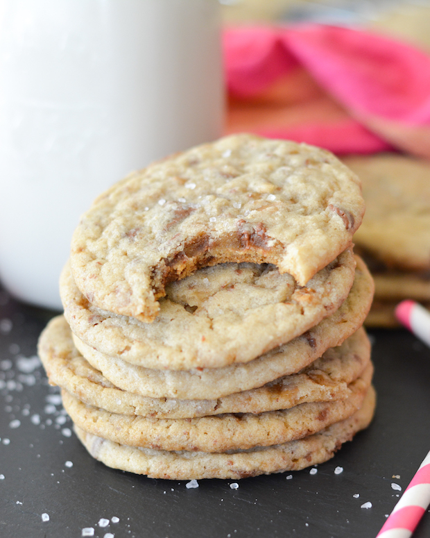 Salted Toffee Cookies