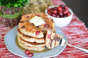 Fresh Cranberry Chocolate Chip Pancakes