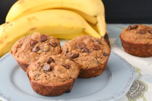 Chocolate Chip Coconut Flour Banana Bread Muffins