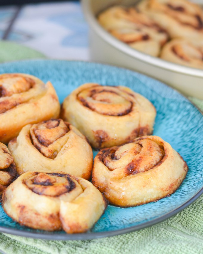 Honey Butter Pizza Dough Cinnamon Rolls