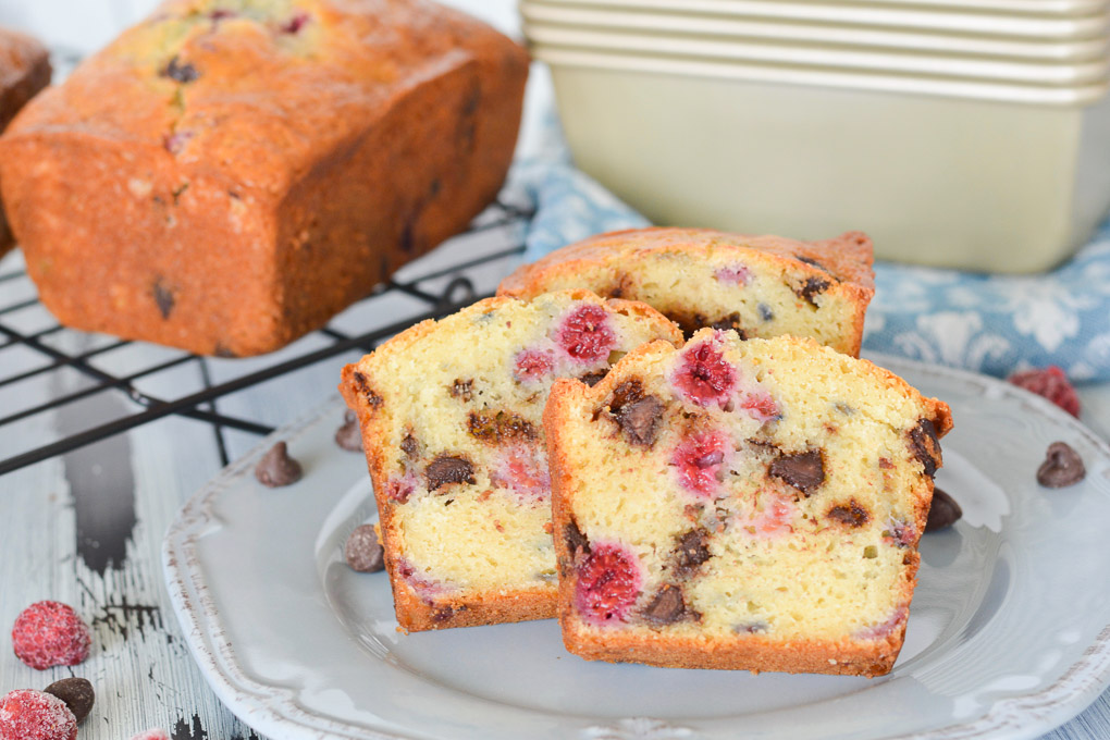 Raspberry Chocolate Chip Yogurt Bread