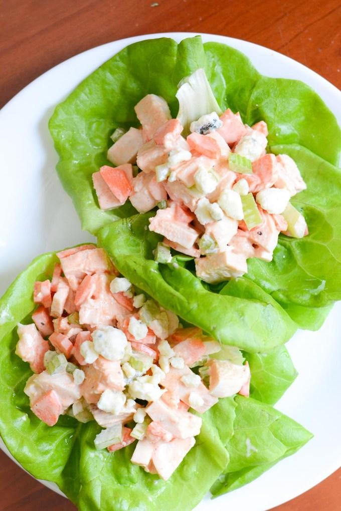 Buffalo Chicken Salad Lettuce Wraps Recipe