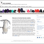 Sock Bunnies website screen shoot
