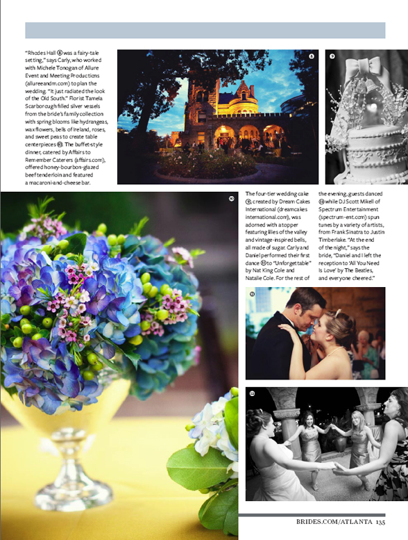 Published Wedding Photography for Carly and Daniel at Rhodes Hall, Atlanta GA