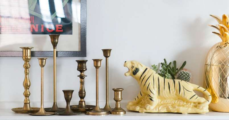 the trinket tree | jessica brigham blog | magazine ready for life for less | monthly giveaways | free stuff | brass candlesticks