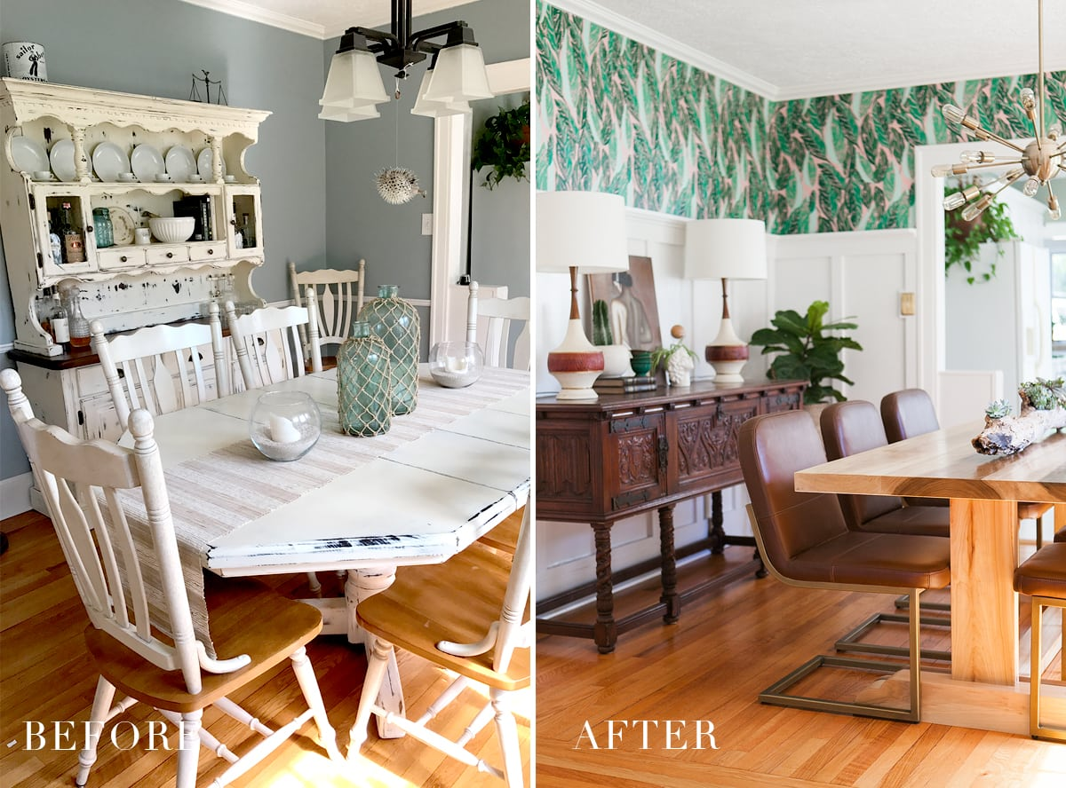 Before & After: Modern Vintage Dining Room Reveal » Jessica Brigham