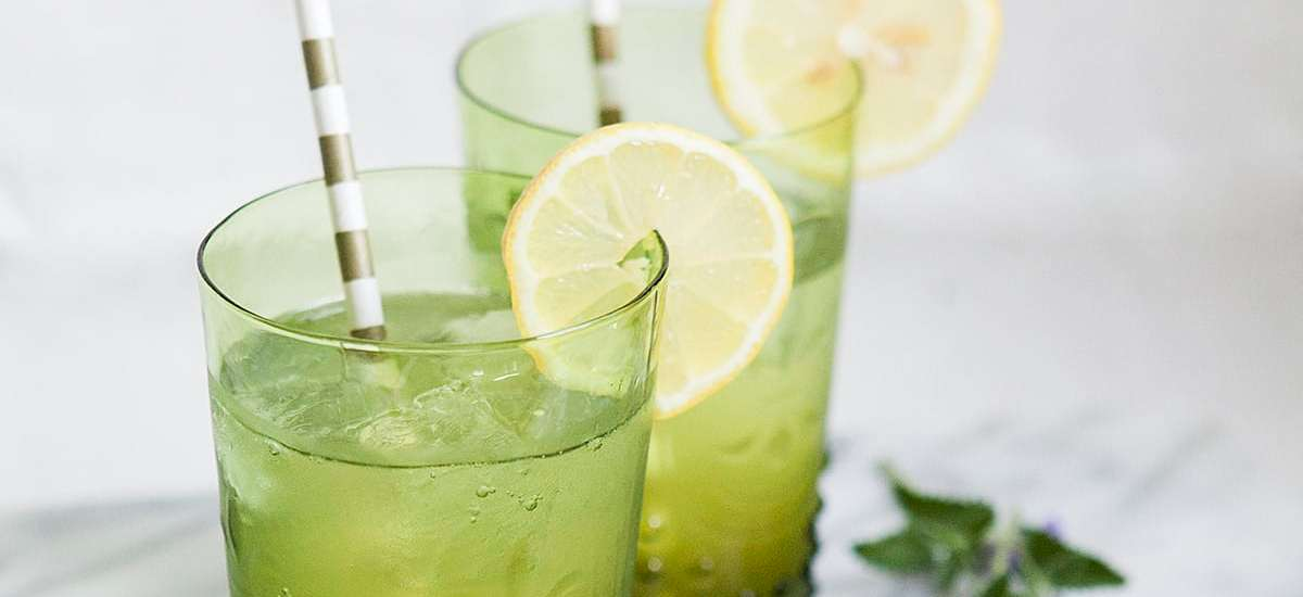Drink Your Garden: Green Rhubarb Fizz