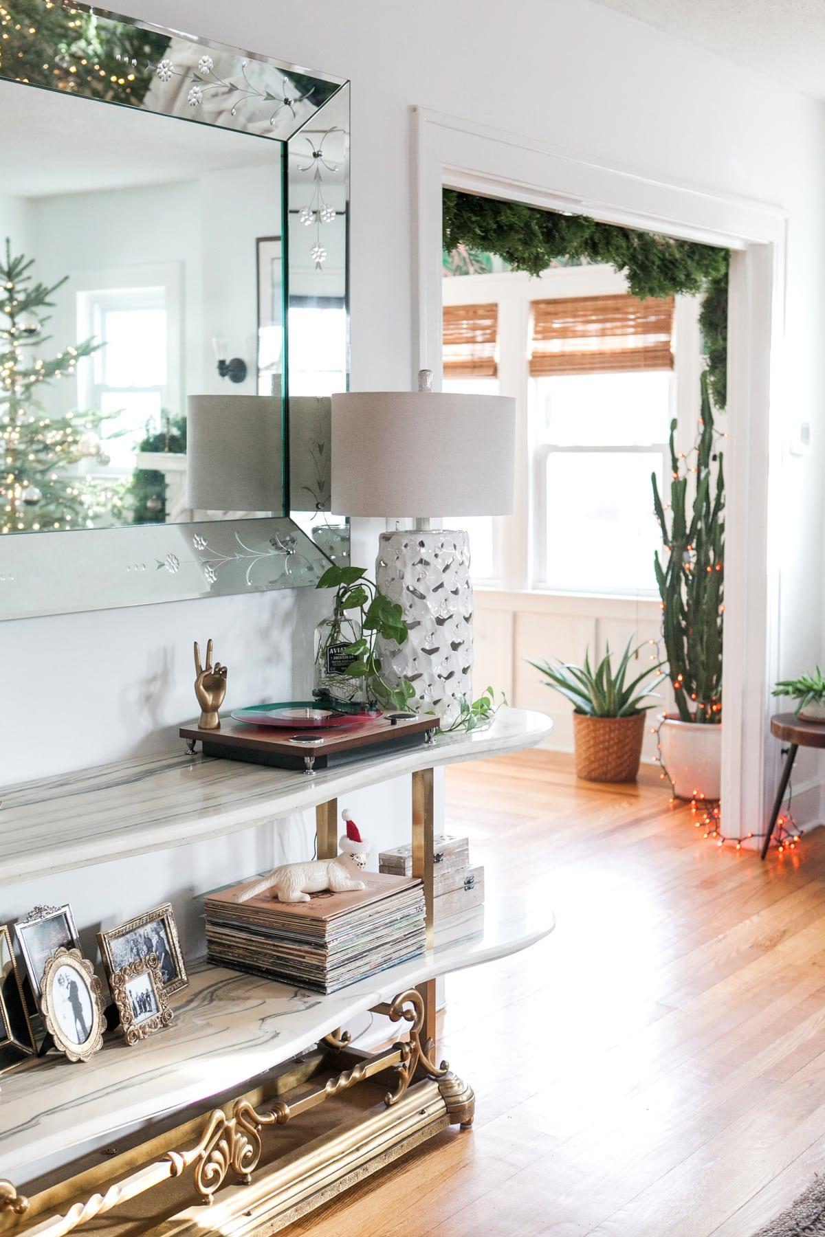 Eclectic Home Tour Winter 2017 | Boho Glam Christmas Decor | Jessica Brigham Blog | Magazine Ready for Life