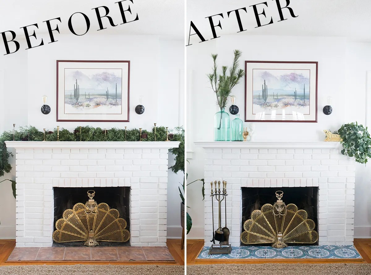DIY Fireplace Makeover | Fireplace Makeover Ideas | Fireplace Makeovers on a Budget | Before & After | Jessica Brigham Blog