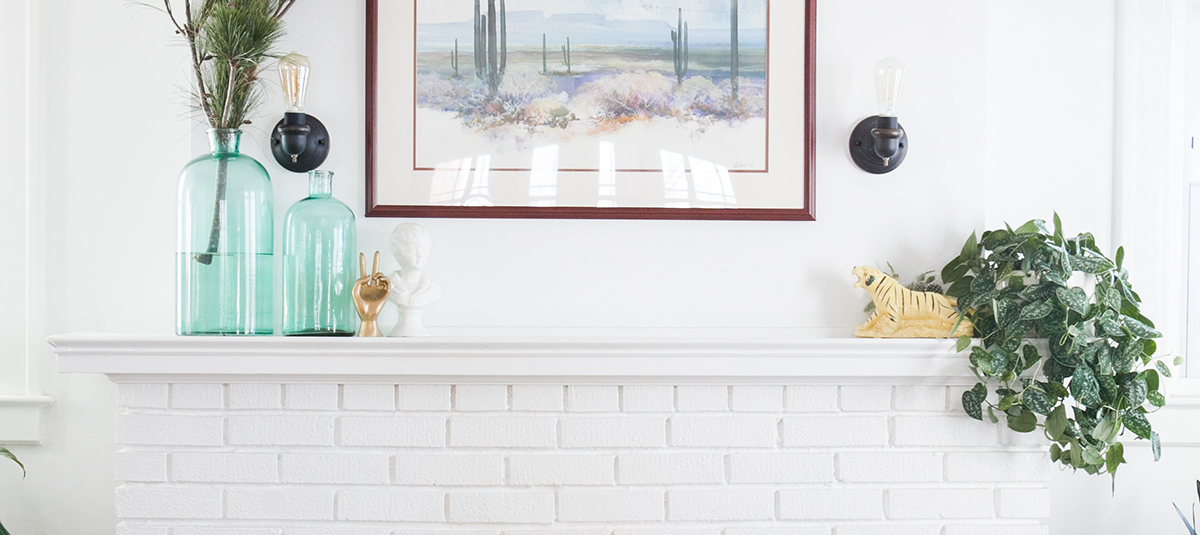 My Easy (and Inexpensive!) DIY Fireplace Makeover + A GIVEAWAY!!!