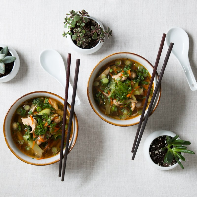 Thai Chicken Noodle Soup | Baby Bok Choy + Shiitake Mushrooms | Winter Soup Recipes | Jessica Brigham | Magazine Ready for Life