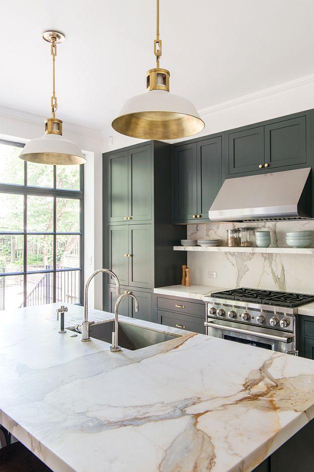 Best Dark Green Kitchen Like Ever | Jessica Brigham | Magazine Ready for Life | Modern Kitchen Design | Green Kitchen Cabinets