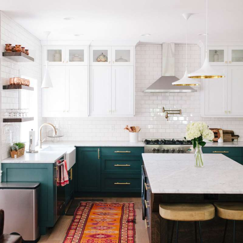 Best Dark Green Kitchen Like Ever | Jessica Brigham | Magazine Ready for Life | Modern Kitchen Design | Green Kitchen Cabinets