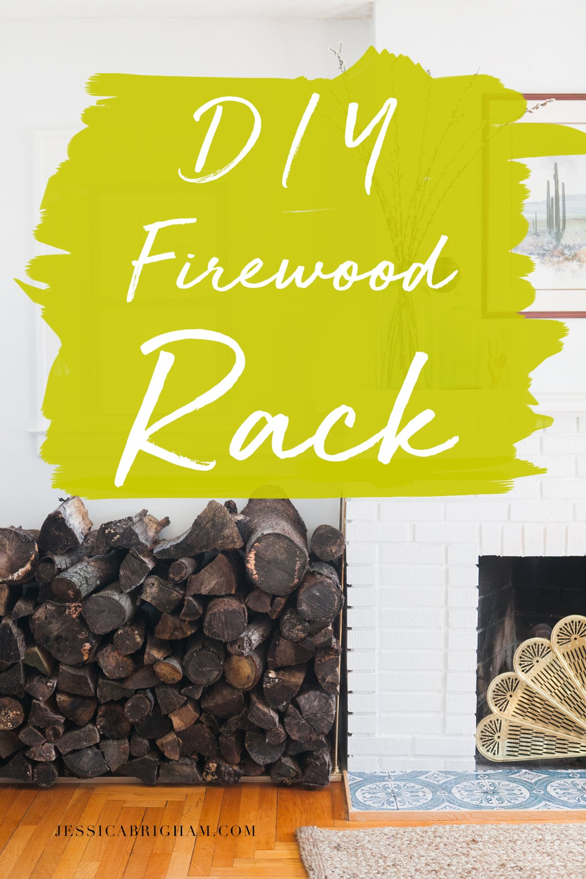 DIY Firewood Rack | Log Holder | Jessica Brigham | Magazine Ready for Life