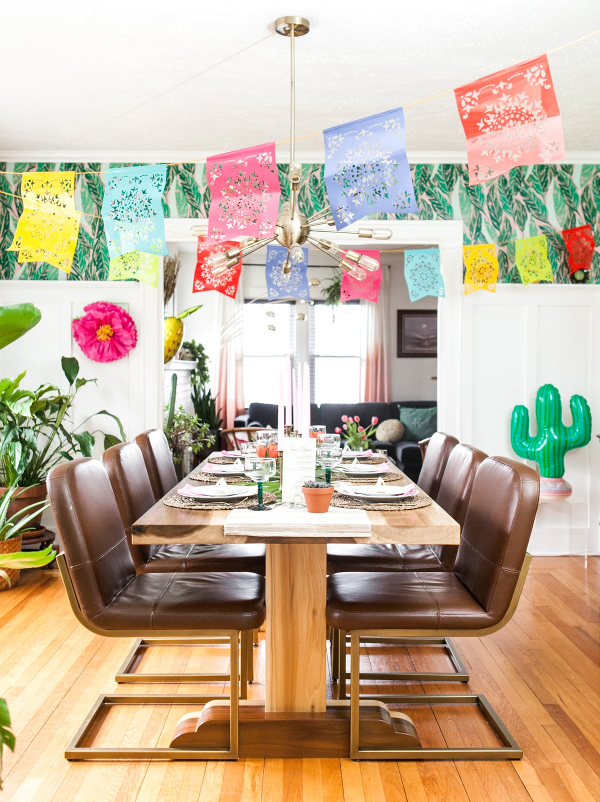 Fiesta Time! Cinco de Mayo Dinner Party | Papel Picado Decor | Party Themes | Birthday Party Ideas | Jessica Brigham Magazine Ready for Life