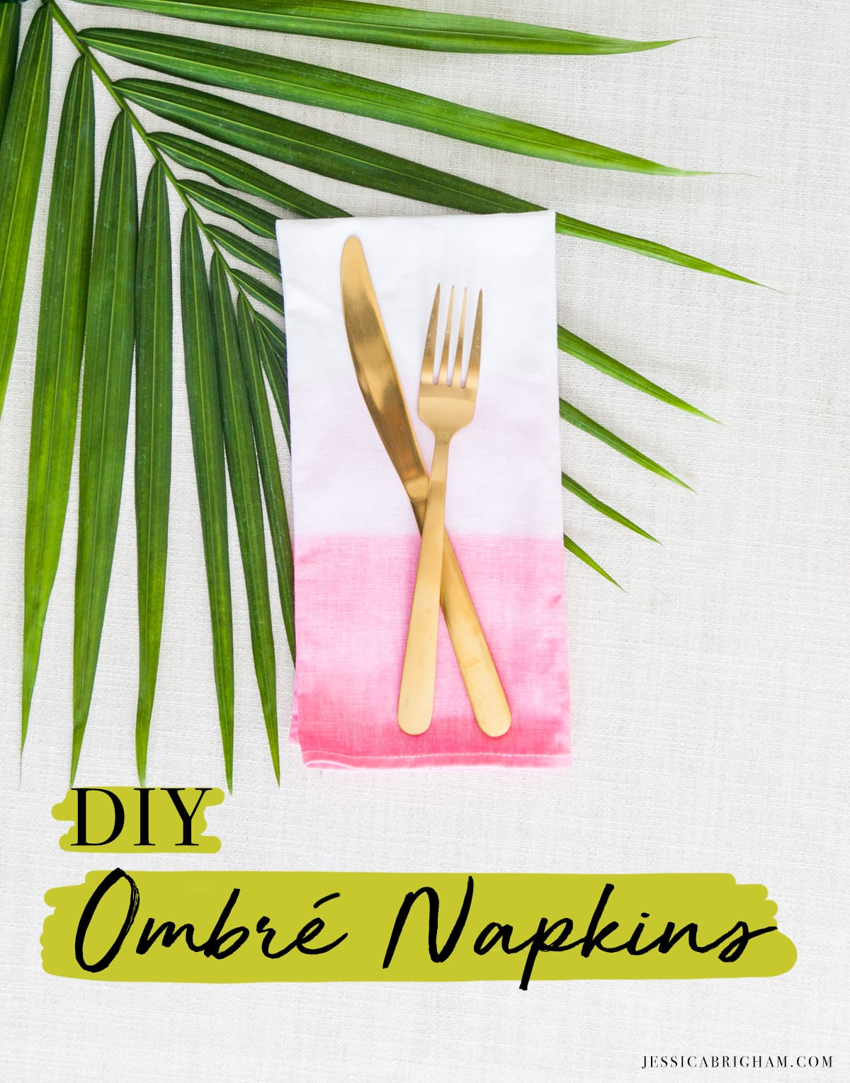 DIY Ombre Napkins | Party Decoration Ideas | Cinco de Mayo Party Supplies | Jessica Brigham | Magazine Ready for Life
