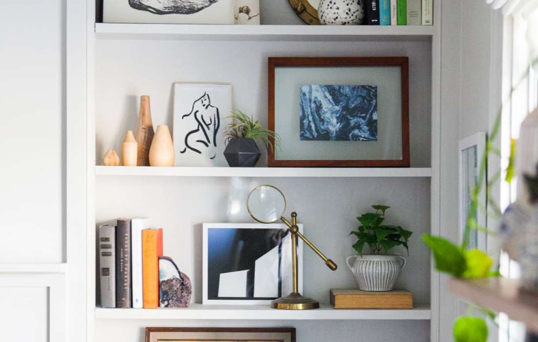How to Style Your Shelfie Like a Goddamn Pro