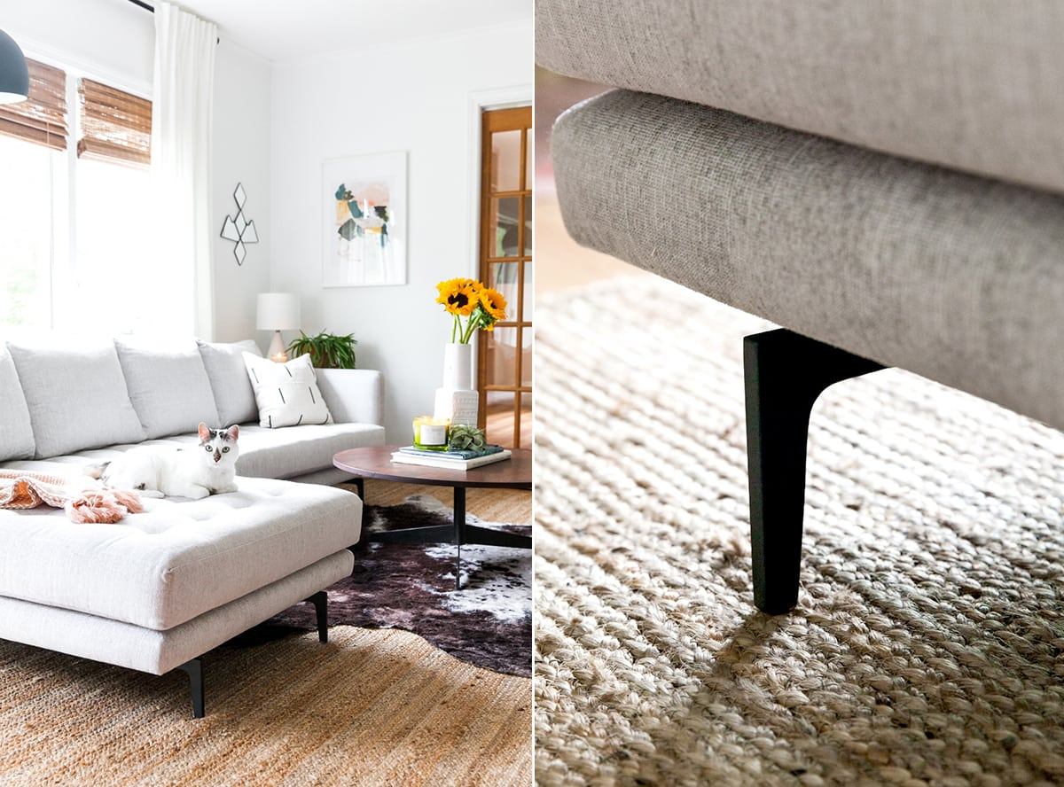 Mid Century Modern Living Room Makeover | The Parker Sectional Article | Allen Road Project | Jessica Brigham | Magazine Ready for Life