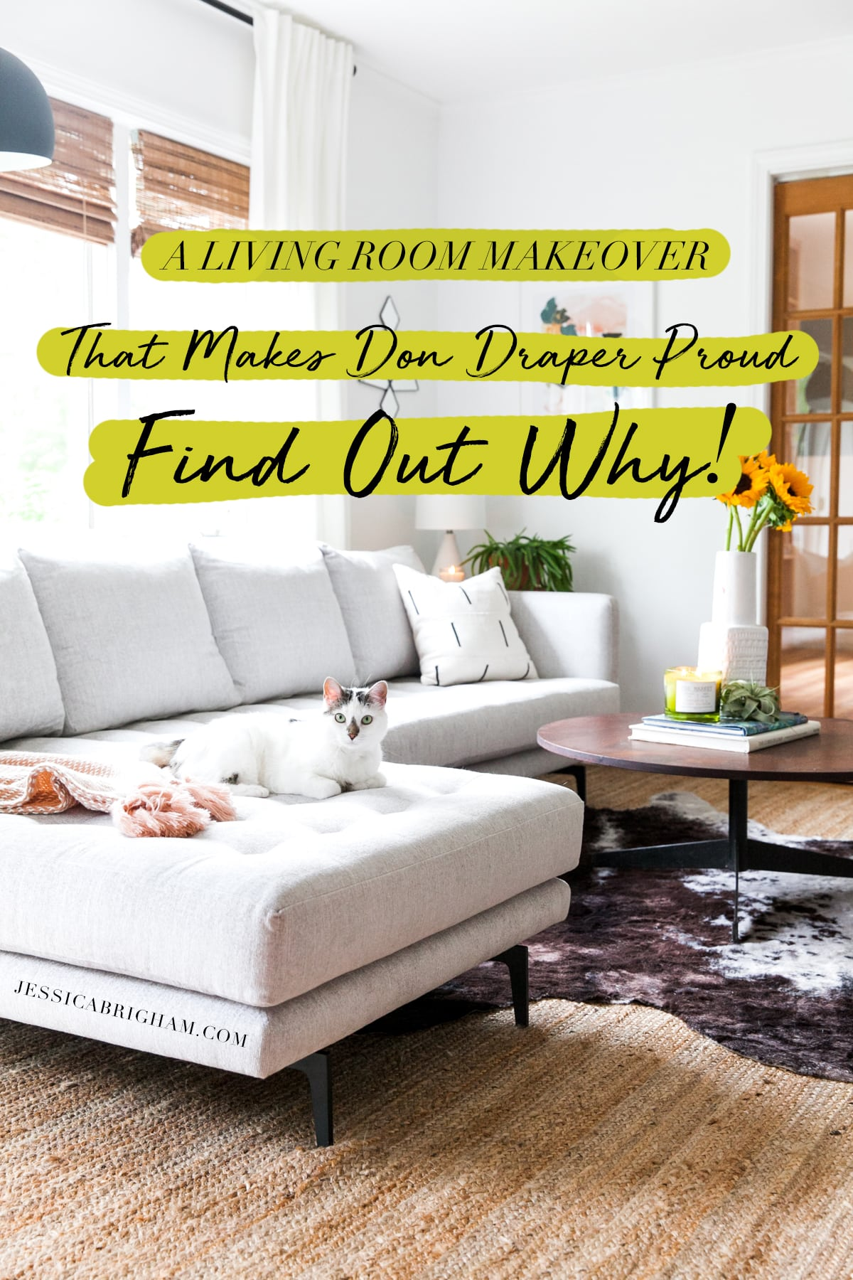 A Living Room Makeover That Makes Don Draper Proud Find Out Why