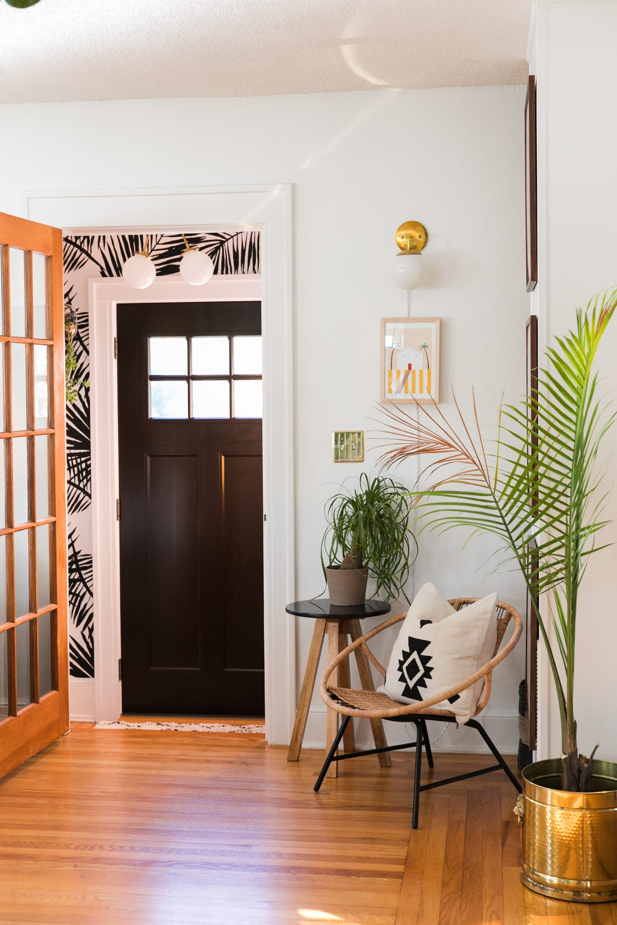 Boho Mod Glam Entryway | One Room Challenge | Week Two | Jessica Brigham | Magazine Ready for Life
