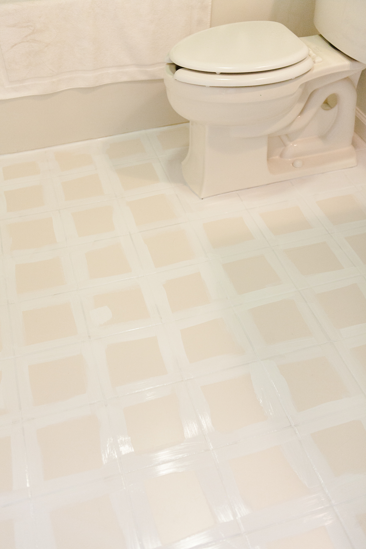 Yes You Can! How to Paint a Tile Floor | DIY Painted Tile Floor | Jessica Brigham | Magazine Ready for Life
