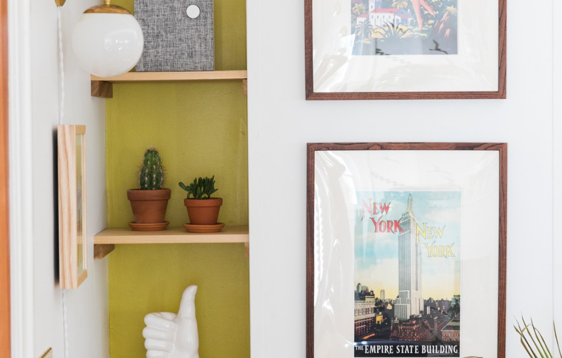 Make the Best of Awkward Spaces with this DIY Bookshelf