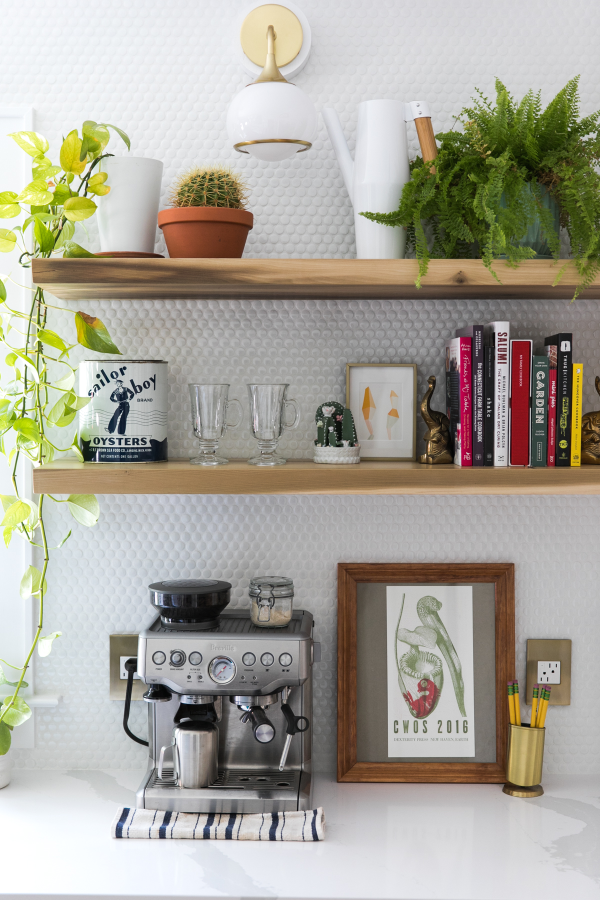 Floating Shelves | One Room Challenge | Green Kitchen Glamazon | Kitchen Mood Board | Open Kitchen Design | Kitchen Renovation | Jessica Brigham | Magazine Ready for Life | www.jessicabrigham.com