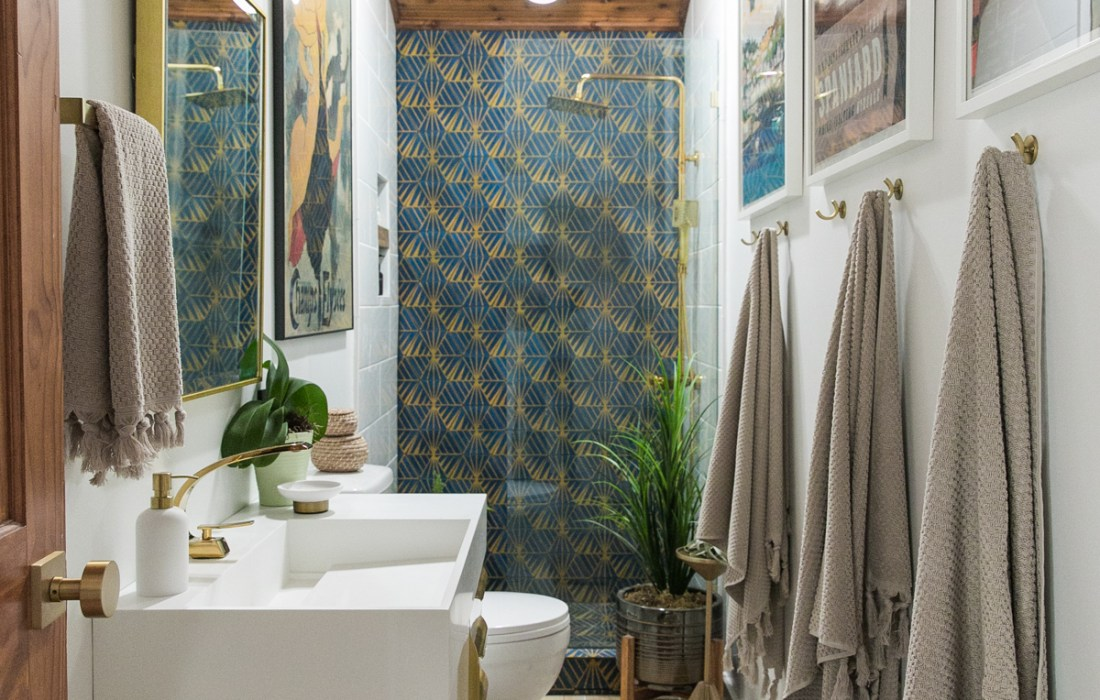 Bold + Glammy Guest Bathroom REVEAL!