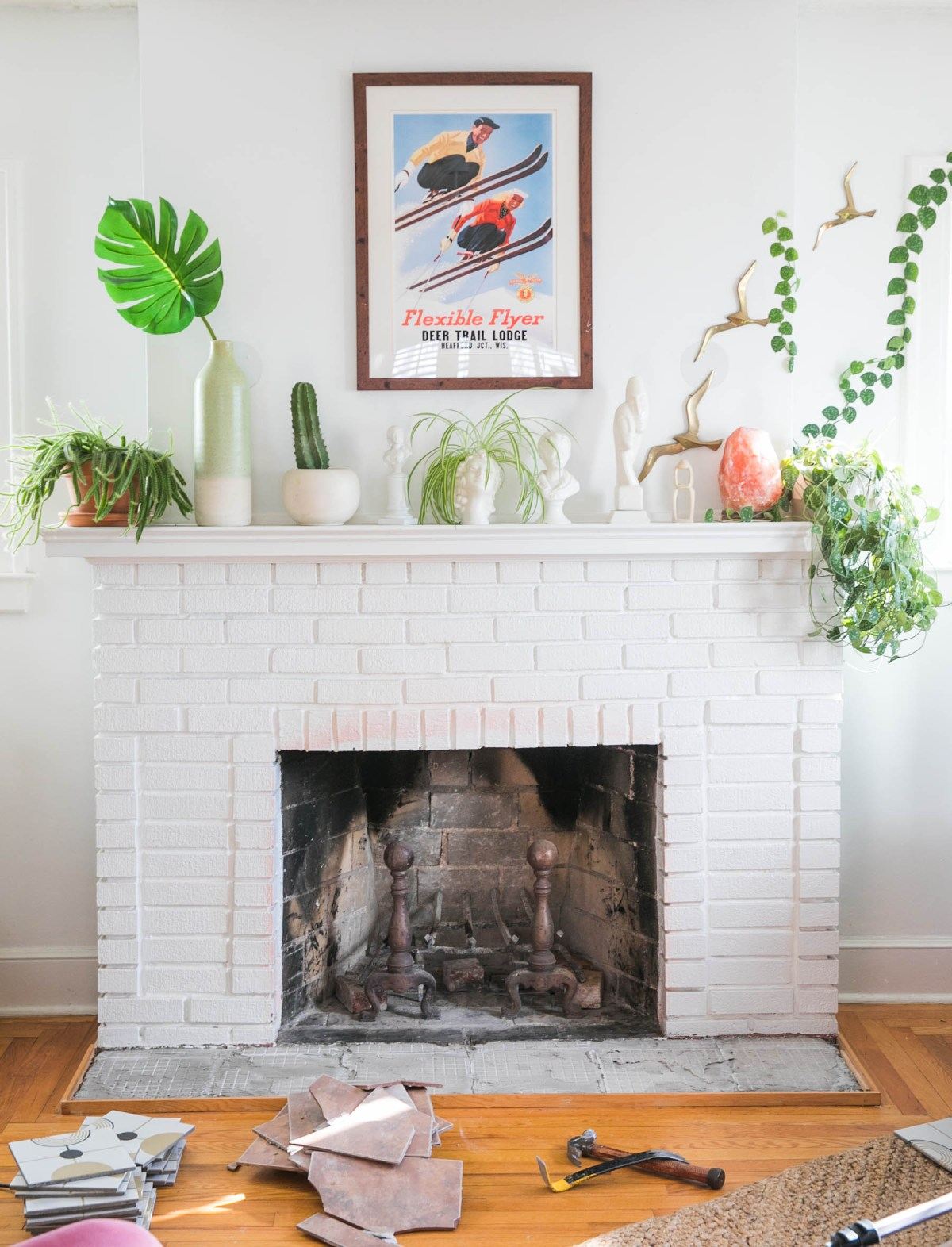 How to Tile a Fireplace Hearth | Yes You Can! | Fireplace Makeover Ideas on a Budget | JessicaBrigham.com