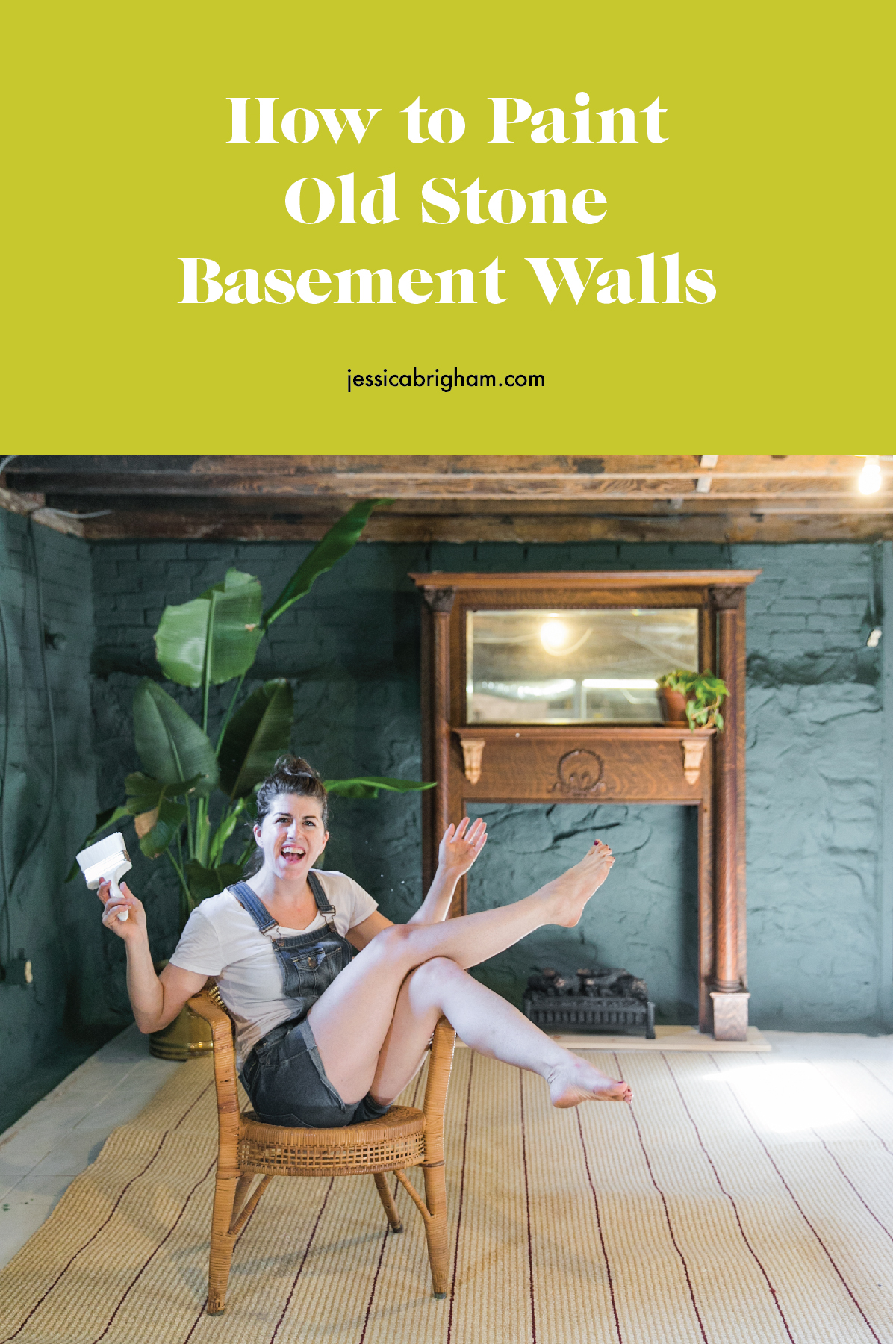 How to Paint Old Stone Basement Walls | DRYLOK | Basement Remodel | Basement Restoration | DIY at Home | VIDEO TUTORIAL | JessicaBrigham.com