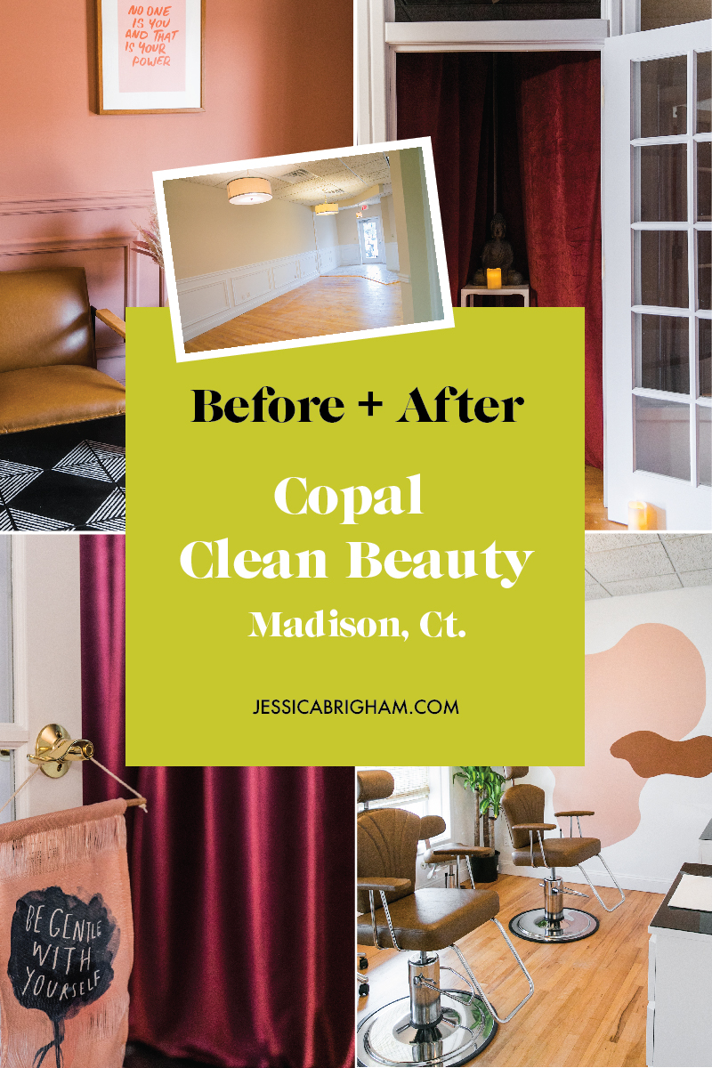 Before + After | Copal Clean Beauty | Madison, CT | Jennie Fresa | In-Person Design Consultation | Jessica Brigham | JessicaBrigham.com
