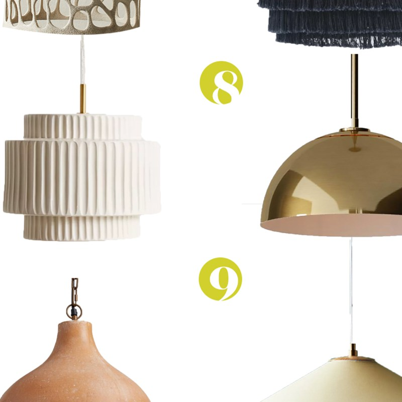 Round UP! Twelve Pretty AF Pendants You Could Easily Turn Into Plug-Ins | Light Fixture Round Up | JessicaBrigham.com