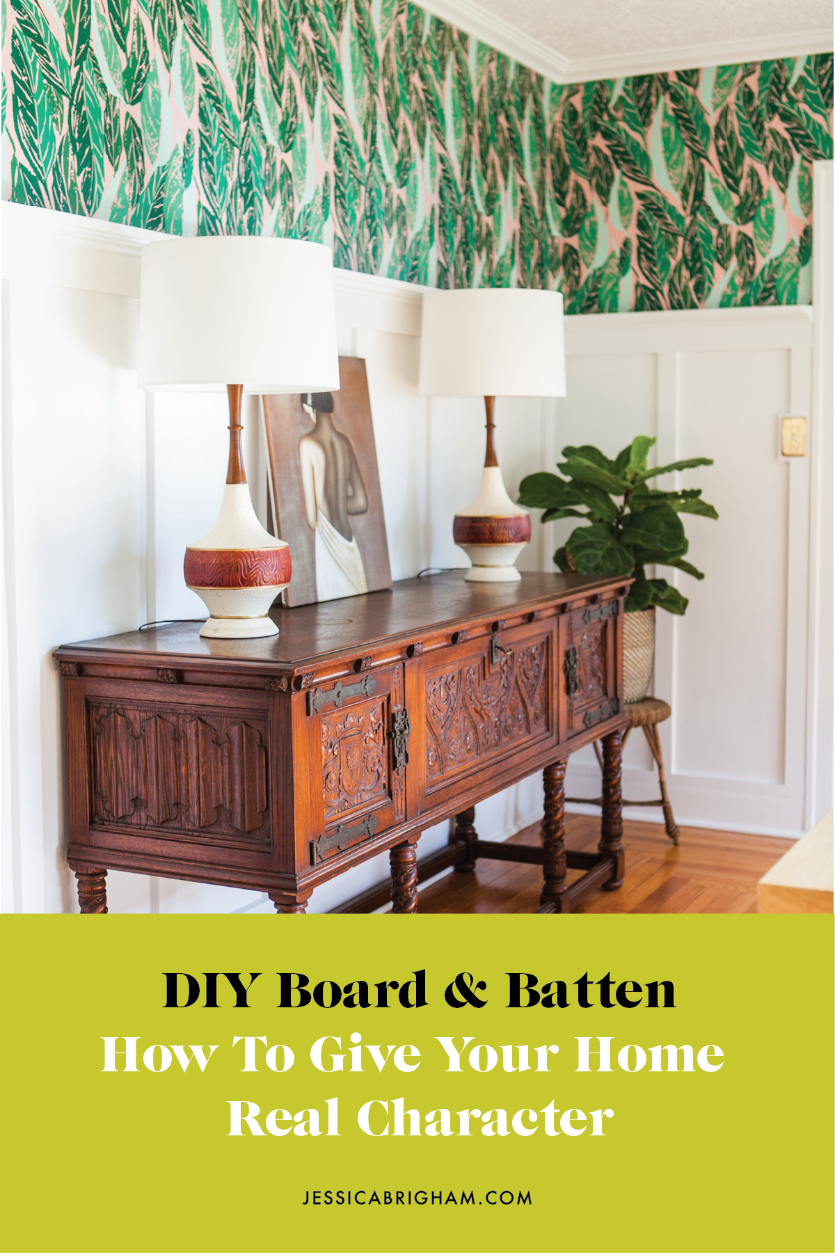 DIY Board And Batten | How To Give Your Home Real Character | Dining Room Design Inspiration | JessicaBrigham.com