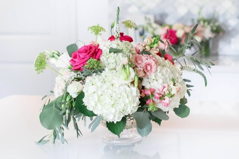 Cute Pink Baby Shower Ideas featured by top Houston lifestyle blogger and expecting mom, Jessica Crum. | Pink Baby Shower by popular Houston motherhood blogger, Jessica Crum: image of a floral arrangement by Picked Flower Co.